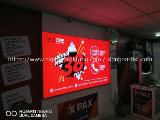 indoor LED fabric light box at subang Usj Kuala Lumpur