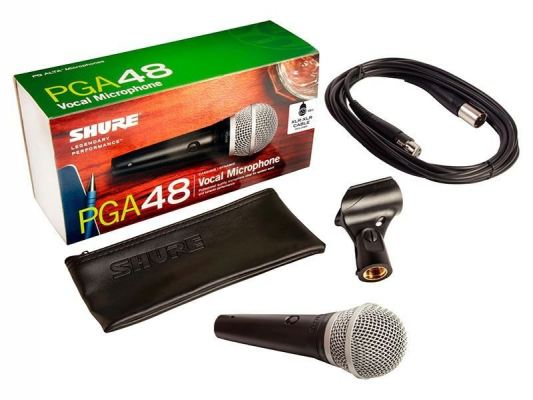 PGA48-QTR Cardioid Dynamic Vocal Microphone, On-Off Switch, includes