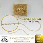 Suasa (Gold Filled), Extension (Chain), CHA001, 0.5meter/pack