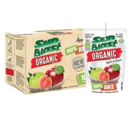 Sunblast Organic 100%Apple & Guava Juice