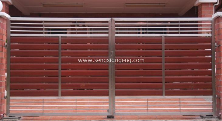 Stainless Steel Swing Main Gate