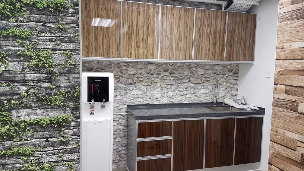 Wooden Grain Kitchen Cabinet 2Tune Alumminium Kitchen Cabinet Kitchen Cabinet  Malaysia Reference Renovation Design