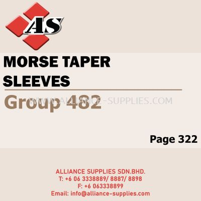 Morse Taper Sleeves (Group 482)