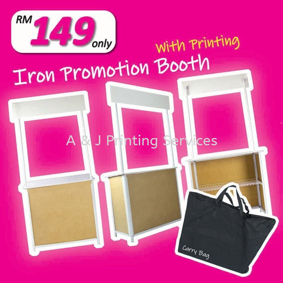 Special Offer Metal Promotion Booth Siap Printing RM 149 only MOQ : 1PC