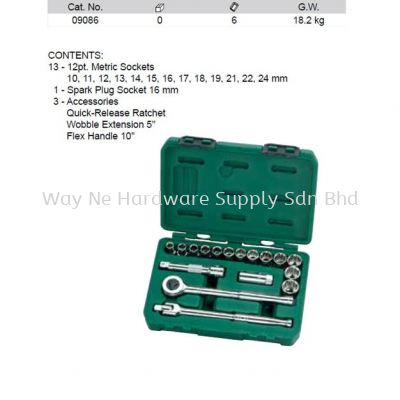 1208 - Pc-1-2-Drive-12-Point-Metric-Socket-Set9