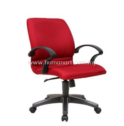 BONZER LOW BACK FABRIC CHAIR WITH POLYPROPYLENE BASE ACL 6002