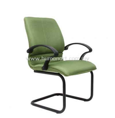 BONZER VISITOR FABRIC CHAIR WITH EPOXY BLACK CANTILEVER BASE C/W ARMREST ACL 6003