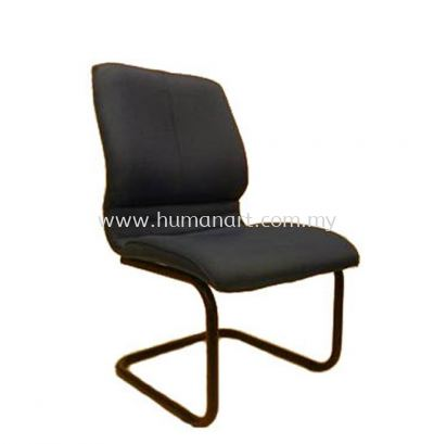 BONZER VISITOR FABRIC CHAIR WITH EPOXY BLACK CANTILEVER BASE W/O ARMREST ACL 6004