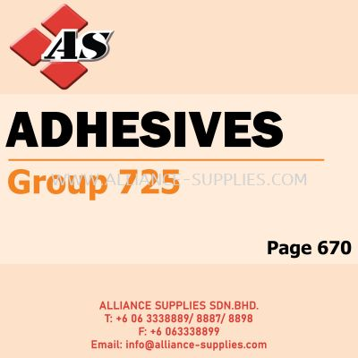 Adhesives - Instant / Spray (Group 725)
