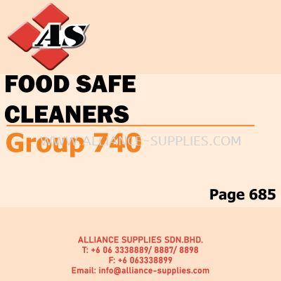 Food Safe Cleaners (Group 740)