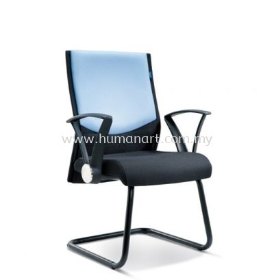 AMAXIM STANDARD VISITOR FABRIC OFFICE CHAIR WITH EPOXY BLACK CANTILEVER BASE- the mines | bukit jelutong | jalan raja chulan