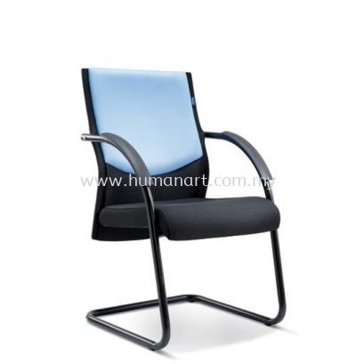 AMAXIM STANDARD VISITOR FABRIC CHAIR WITH EPOXY BLACK CANTILEVER BASE