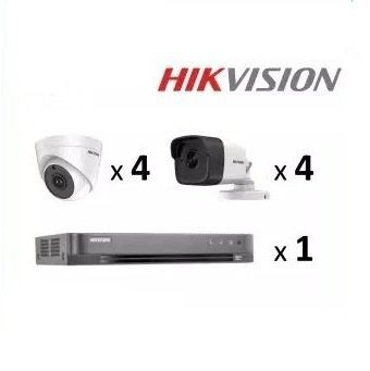 HIKVISION 8 CHANNEL DVR 5MP PACKAGE (8 CAMERA)