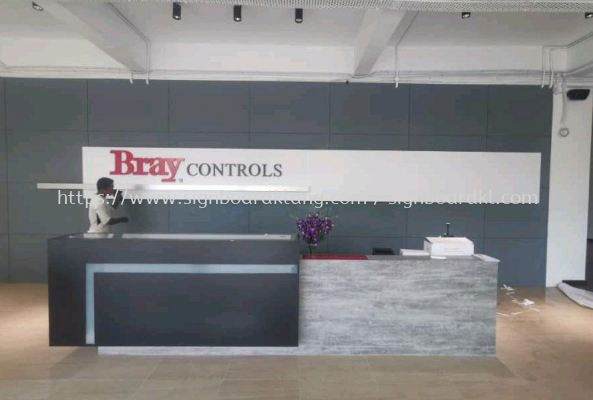 Bray controls 3D box up lettering reception signage
