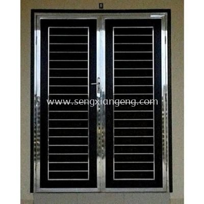 Stainless Steel Double Front Door