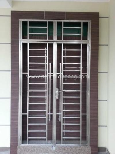 Stainless Steel Double Front Door
