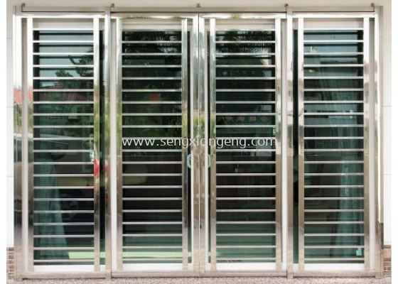 Stainless Steel Sliding Front Door