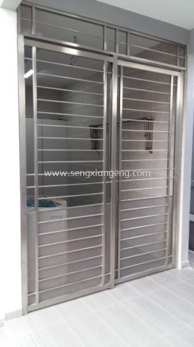 Stainless Steel Sliding Front Door