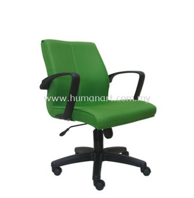 FUSION STANDARD LOW BACK FABRIC CHAIR WITH POLYPROPYLENE BASE