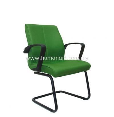 FUSION STANDARD VISITOR FABRIC CHAIR WITH EPOXY BLACK CANTILEVER BASE