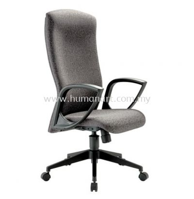 IKENO STANDARD HIGH BACK FABRIC CHAIR WITH NYLON ROCKET BASE
