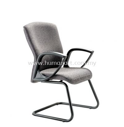 IKENO STANDARD VISITOR FABRIC CHAIR WITH EPOXY BLACK CANTILEVER BASE