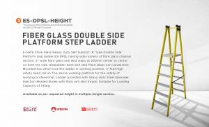 Fiber Glass Double Side Platform Step Ladder
