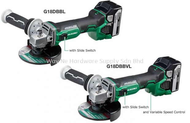18V Cordless Disc Grinders with Brake System G18DBBL/G18DBBVL