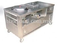 (C29) Chee Cheong Fan Counter c/w burner,ho fun pot & young tau fu tank