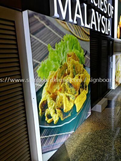 Acrylic Box up LED signage at sepang International airport KLIA