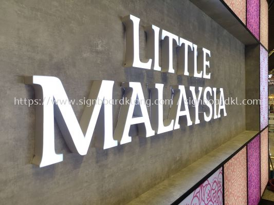Little Malaysia 3D LED channel box up lettering signage at sepang international airport KLIA