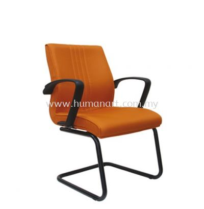 LINER STANDARD VISITOR FABRIC OFFICE CHAIR WITH EPOXY BLACK CANTILEVER BASE - kelana square | bandar sunway | taman connaught