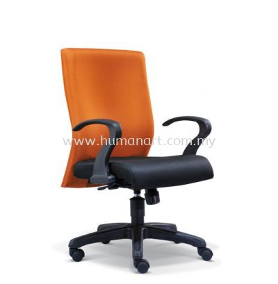 DERIT STANDARD LOW BACK FABRIC CHAIR WITH POLYPROPYLENE BASE