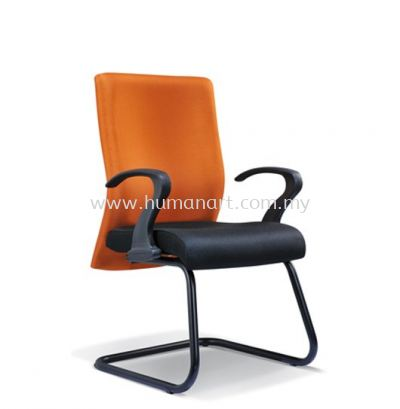 DERIT STANDARD VISITOR FABRIC OFFICE CHAIR WITH EPOXY BLACK CANTILEVER BASE- kerinchi | bangsar south | ampang point
