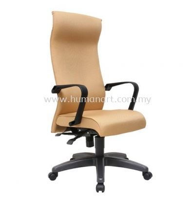 JENSI STANDARD HIGH BACK FABRIC CHAIR WITH POLYPROPYLENE BASE