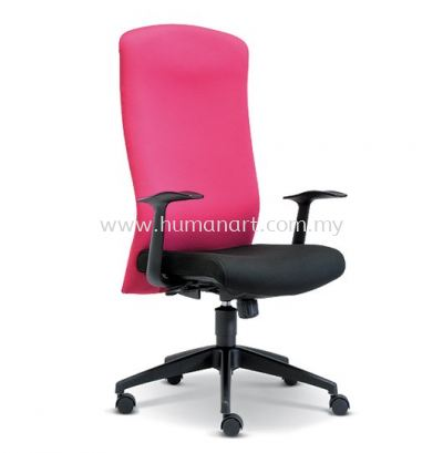 SKILL STANDARD HIGH BACK FABRIC CHAIR WITH NYLON ROCKET BASE ASE 2191