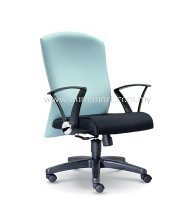 MOSIS STANDARD MEDIUM BACK FABRIC CHAIR WITH POLYPROPYLENE BASE