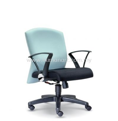 MOSIS STANDARD LOW BACK FABRIC CHAIR WITH POLYPROPYLENE BASE