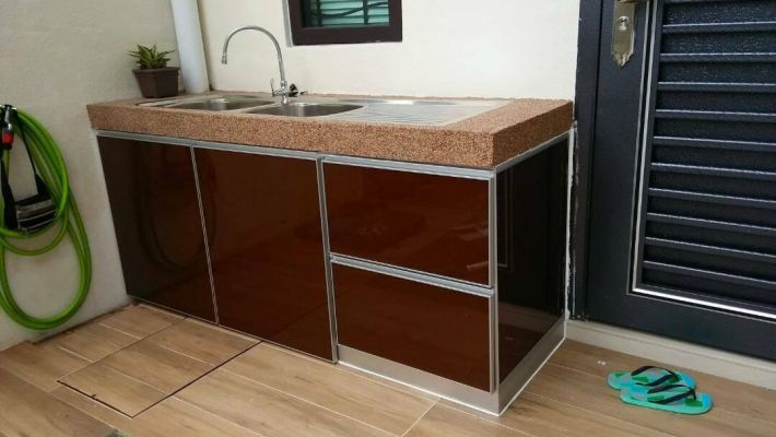 Concrete Table Wash Basin Cabinet