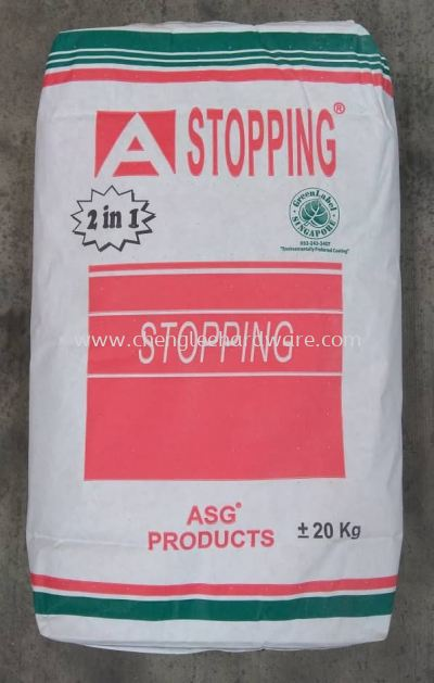 000581 ASG STOPPING COMPOUND - 20KG PER BAG