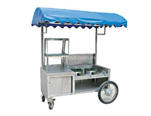 (C33) Soup Kambing Counter With Motorcycle Wheel & Canopy