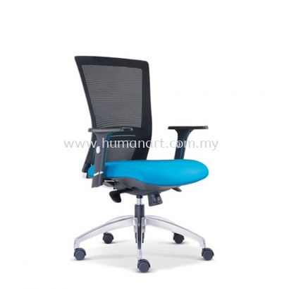 TALENT 1 MEDIUM BACK ERGONOMIC MESH CHAIR WITH ALUMINIUM ROCKET DIE-CAST BASE