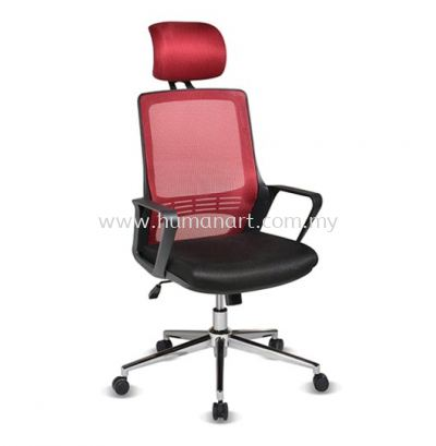STRANMAN HIGH BACK ERGONOMIC MESH CHAIR WITH CHROME BASE- SM-C1