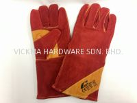 BST SUPER HEAVY DUTY WELDING GLOVE WITH REINFORCED (RED)