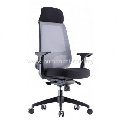 ORION 1 HIGH BACK ERGONOMIC MESH CHAIR WITH NYLON ROCKET BASE