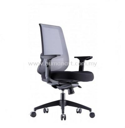 ORION 1 MEDIUM BACK ERGONOMIC MESH CHAIR WITH NYLON ROCKET BASE