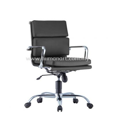 SEFINA(P1) EXECUTIVE LOW BACK LEATHER OFFICE CHAIR WITH CHROME BODY FRAME - kerinchi | bangsar south | ampang point