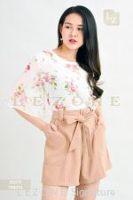 92076 CHIFOFN FLORAL BLOUSE【1ST 10% 2ND 15% 3RD 20%】
