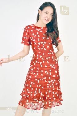 19540 SATIN PRINTED DRESS【30% 40% 50%】