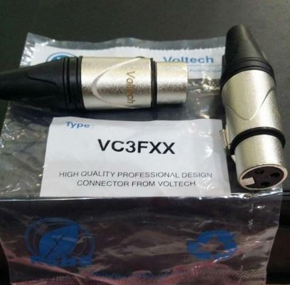 Voltech VC3FXX 3 pin XLR female connector